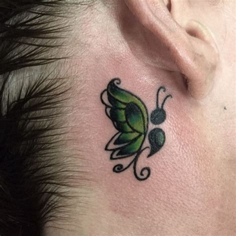 butterfly tattoo   ear  tattoo ideas gallery