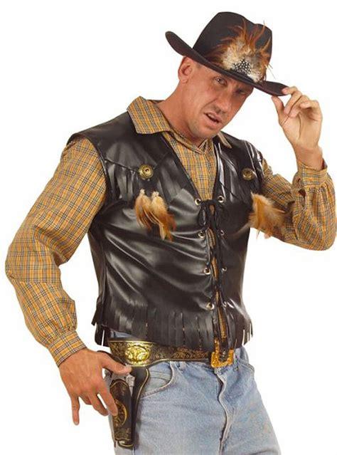 cowboy waistcoat   man express delivery funidelia