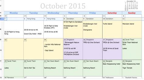 google sheets schedule tools i use to plan my trips travel monkey