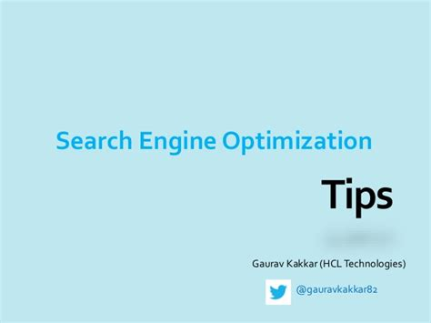 Search Engine Optimization Tips by Basic Search Engine Optimization Techniques Tips