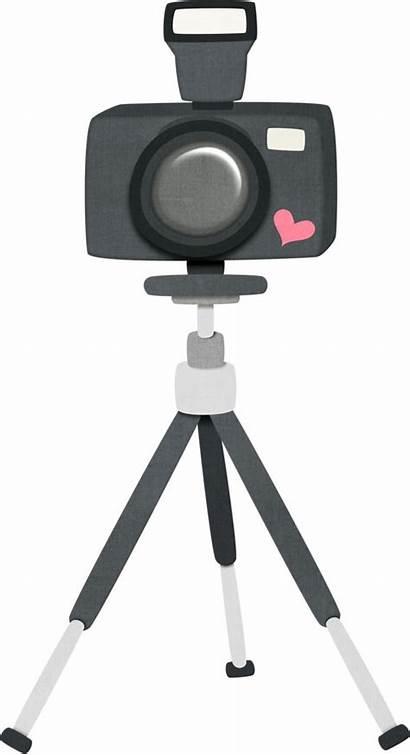 Camera Clipart Clip Tripod Camara Strap Cameras