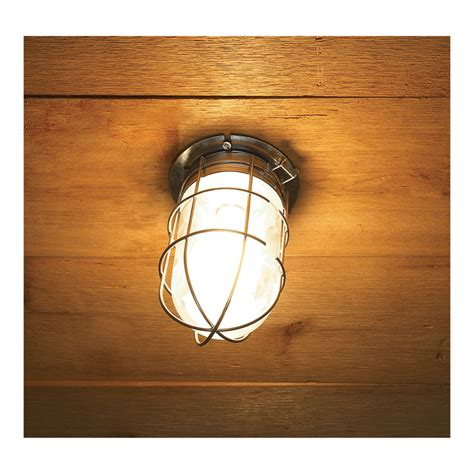 canarm ceiling wall barn light with cage 120v 100 watts