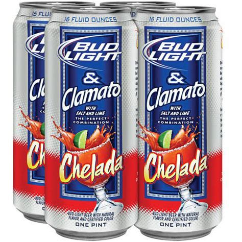 bud light and clamato bud light clamato chelada beer 16 fl oz 4 pack