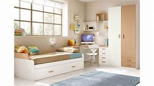 Chambre Avec Bureau : chambre pour enfant cosy avec son lit gigogne glicerio so nuit ~ Dode.kayakingforconservation.com Idées de Décoration