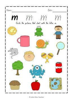 alphabet worksheets   letters included