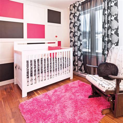 chambre couleur framboise framboise noir et blanc pour la chambre de bébé décors
