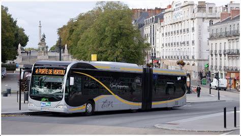 nantes ein gelenkbus auf der linie 4 foch cath 233 drale porte de vertou der transports de l