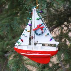 nantucket christmas sailboat ornament the hub of nantucket