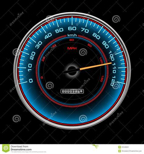 design  blue speedometer speedo clock  ind stock
