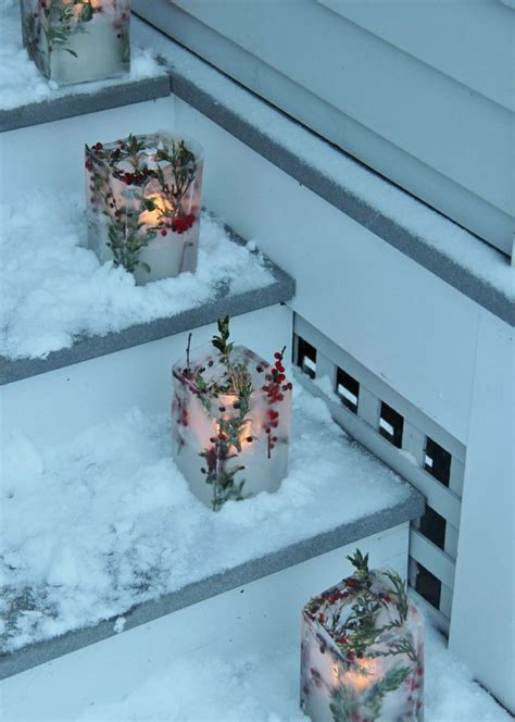 creative ice christmas decorations  outdoors digsdigs