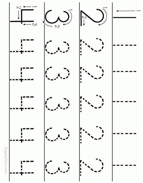 Number Tracing Worksheet Numbers 1 To 4  Preschool Math  Pinterest  Preschool Worksheets