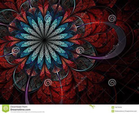 colorful fractal flower stock images image 18276334