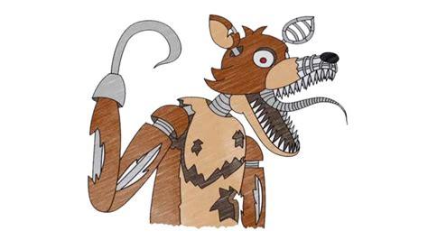 draw nightmare foxy fnaf    draw