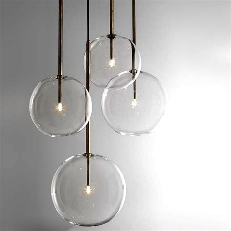 modern clear glass orb pendant lighting 12308 browse