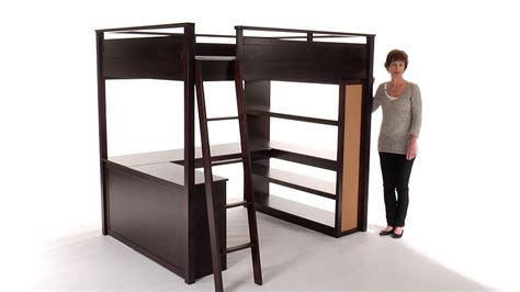 Loft Bed With Desk Pottery Barn by Desk Loft Bed Furniture Of America Markain Industrial