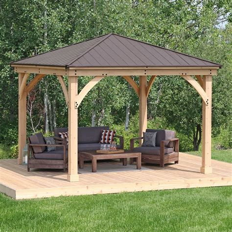 yardistry meridian  ft    ft  solid wood patio