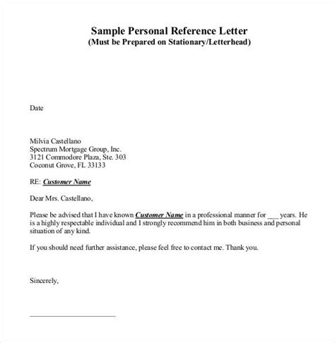 personal reference template 42 reference letter templates pdf doc free premium templates