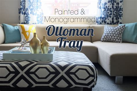 how to decorate an ottoman big square ottoman tray of decorating by jackie