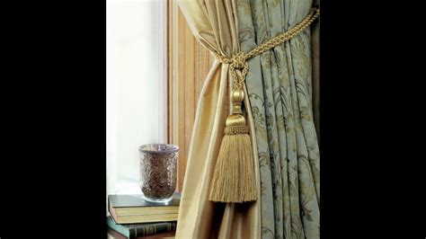 drapery tiebacks how to tie a curtain tieback tassels