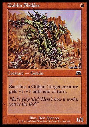 goblin charbelcher vintage deck goblin sledder onslaught