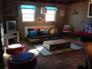 teenager garage hangout hangout teenager upcycle diy With cool basement ideas for teenagers