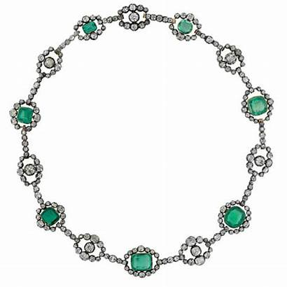 Emerald Necklace Diamond Victorian Jewelry Antique 1860