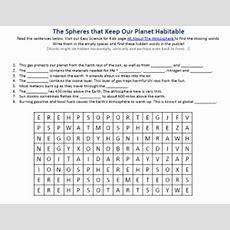 Atmosphere Worksheet  Free To Download Printable Find Hidden Words Game