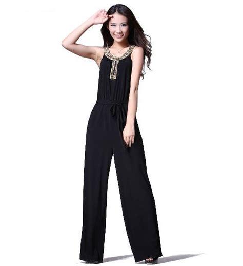 Wholesale Hot Sale Elegant Slim Noble Black Jumpsuits With ...