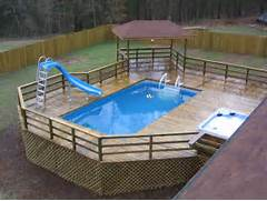 Swimming Pool Ideas With Deck Thought Look At These Awesome Above Ground Swimming Pools With Decks