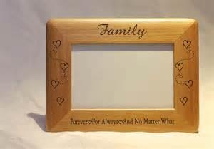 Personalized Photo Frame, Engraved Wood Frame, Family Frame, 4x6 Frame , Engraved Family Frame , Family Picture Frame