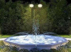 Fontaine Pour Bassin A Poisson : fontaine bassin octogonal a jets d eau a au jardin d 39 eden ~ Voncanada.com Idées de Décoration