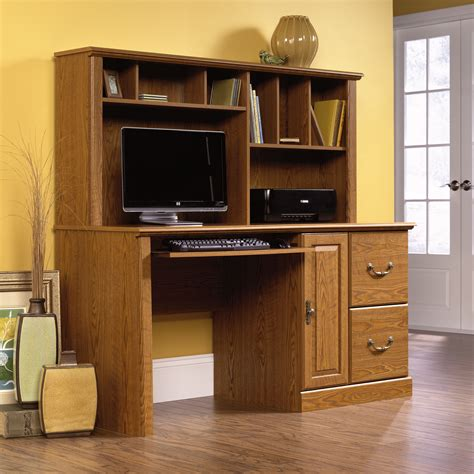 computer desk with hutch orchard computer desk with hutch 401354 sauder