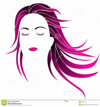 Clipart Parlour Hairstyle Face Beauty Mallow Illustration