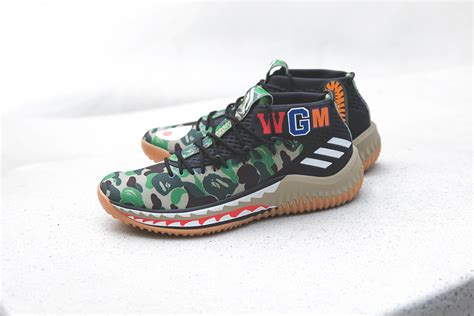 sneaker zimmerde adidas originals  bape dame bape wgm green camo