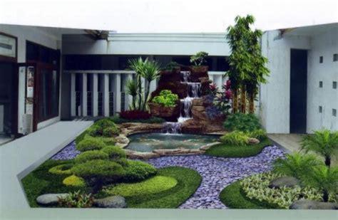 taman rumah minimalis modern depan rumah