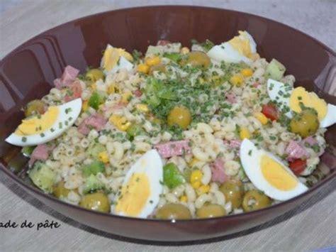 salade de pates recette recettes de salade de pate