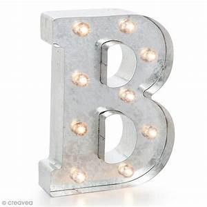 Lettre Metal Vintage : lettre lumineuse en m tal vintage b 25 x 19 x 4 5 cm lettre lumineuse led creavea ~ Teatrodelosmanantiales.com Idées de Décoration