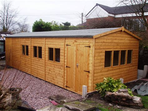 10x20 Saltbox Wood Storage Shed by Quality T G Bespoke Wooden Garage Workshop Or Storage Shed