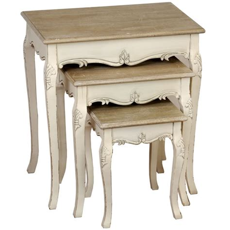 shabby chic nesting tables shabby chic country nest of tables harvezfurnishings