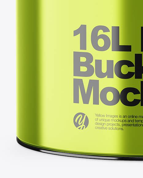 Just need few a minutes and your design will be look great with this mockup. 20l Glossy Paint Bucket Mockup - Free PSD Mockups