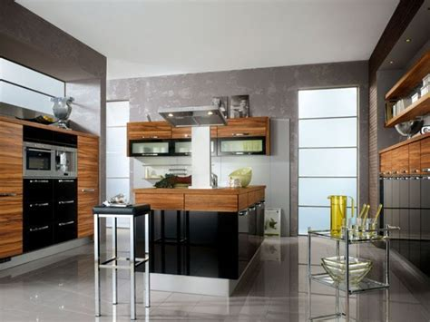 Zebrano wood kitchen cabinets, black high gloss kitchen