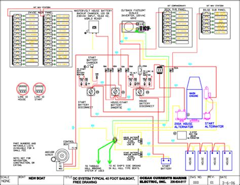 marine electrical wiring diagram wiring diagram with ocean currents marine electric