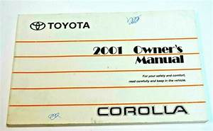2001 Toyota Corolla Owners Manual Guide Book Oem