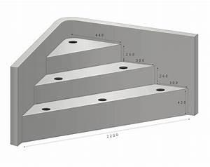 escalier sous liner With hauteur marche piscine beton