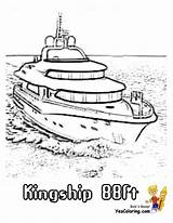 Ship Coloring Pages Yacht Boat Ft Colorable Boats Ships Sheets Yescoloring Cool sketch template