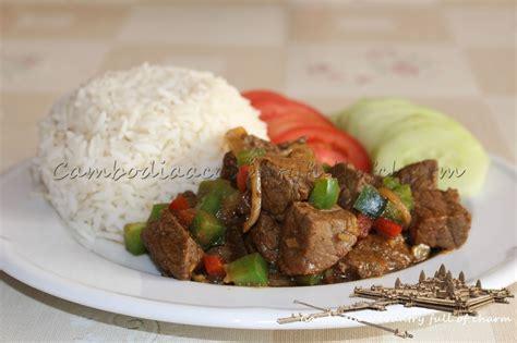 cuisine cambodgienne boeuf au satay et au poivron satay de senteurs d 39 angkor