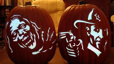 pumpkin carving patterns  stencils zombie pumpkins