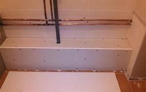 realiser un caisson en placo pour supporter meuble salle With meuble caisson salle de bain