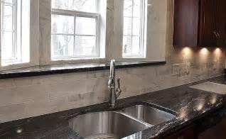 kitchen granite and backsplash ideas black granite white marble backsplash backsplash kitchen backsplash products ideas