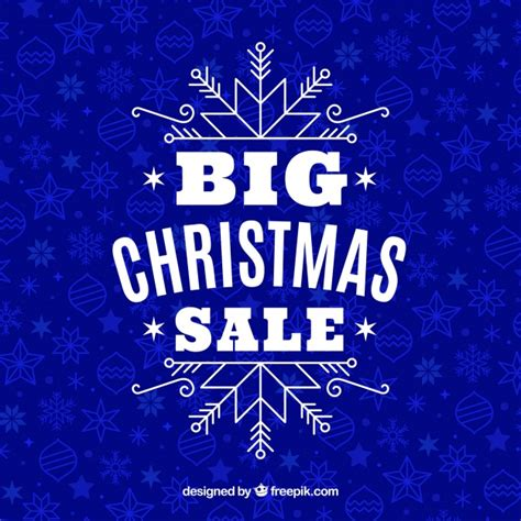 blue christmas sale design vector free download